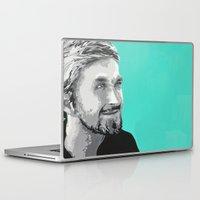 ryan gosling Laptop & iPad Skins featuring Ryan Gosling by megan matthews