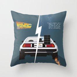 Back to the future / Delorean DMC-12 Throw Pillow