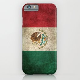 Old and Worn Distressed Vintage Flag of Mexico iPhone Case