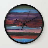 chic Wall Clocks featuring chic by Angela Marie