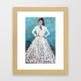 bomber bride Framed Art Print