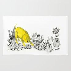 yellow dog Rug