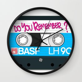 Vintage Audio Tape - BASF - Do You Remember? Wall Clock