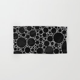 Modern Black and WHITE Textured Bubble Design Hand & Bath Towel