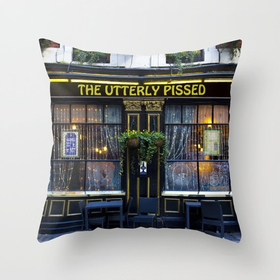 The Utterly Pissed Pub Throw Pillow