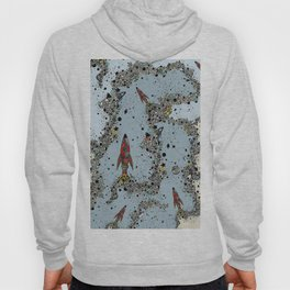 flying rockets in space and planets Hoody