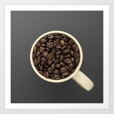 cup of coffee beans Art Print
