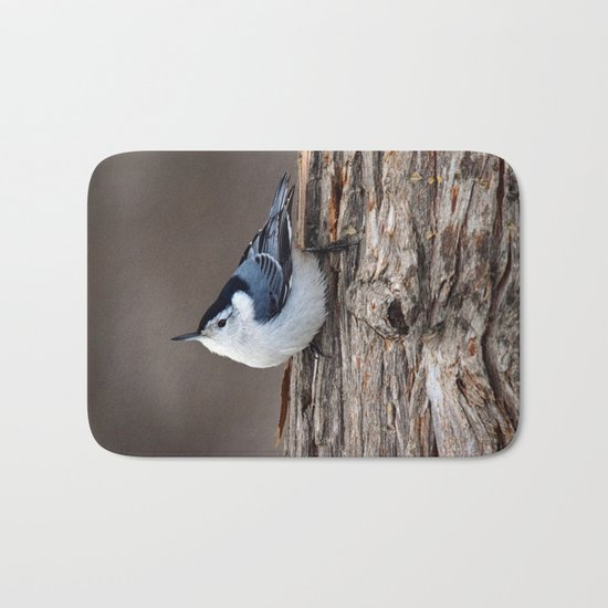 Upside Down Nuthatch Bath Mat