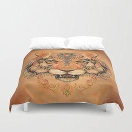 Boho Tribal Tiger Duvet Cover