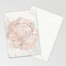 Rose Gold Mandala Marble Stationery Cards
