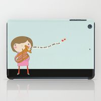 river song iPad Cases featuring Our Love Song is the Best Love Song Ever by Penelope and Pip