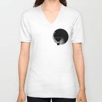 ballon V-neck T-shirts featuring moon ballon by MarinaGuerreiro