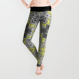 Boho Sunshine Medallion Pattern Leggings