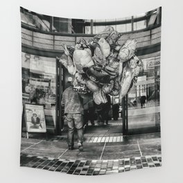 Balloons street photo Wall Tapestry