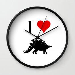 I Love Dinosaurs - Stegosaurus Wall Clock