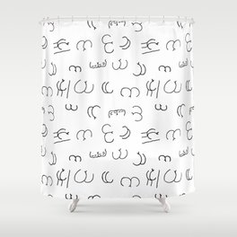 LOL butts Shower Curtain