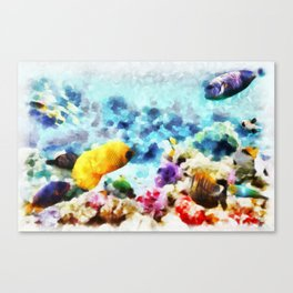 Mundo Submerso Canvas Print