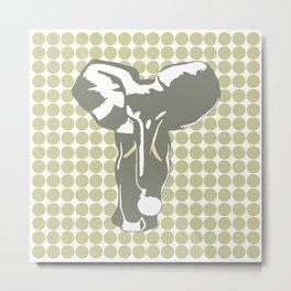 Serengeti Safari Dot with Pop Art Elephant Metal Print