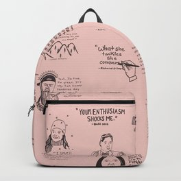 Gilmore Girls Quotes in Pink Backpack