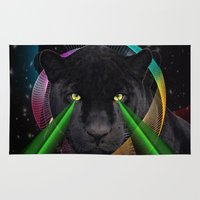 panther Area & Throw Rugs featuring Panther by mark ashkenazi
