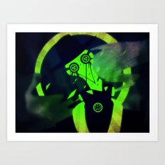 Green At Midnight Art Print