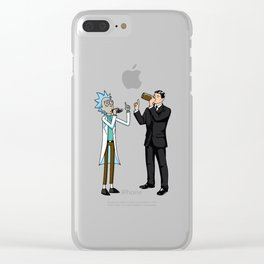 Rick Beer Clear iPhone Case