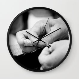 sawing Wall Clock