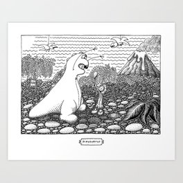 DinoSortOf Art Print