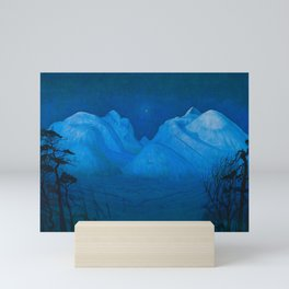 "Harald Sohlberg ""Winter Night in the Mountains (Winter Night in Rondane)"" (1914) Mini Art Print"