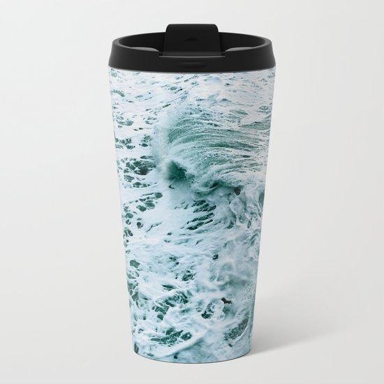 Ocean Wave Metal Travel Mug
