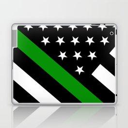 The Thin Green Line Flag Laptop & iPad Skin