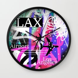 LAX Los Angeles airport code Wall Clock