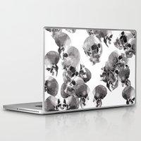skulls Laptop & iPad Skins featuring Skulls by Rik Reimert