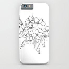 Jasmine line work iPhone Case
