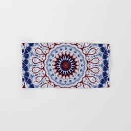 Mandala Fractal in Red White and Blue 01 Hand & Bath Towel