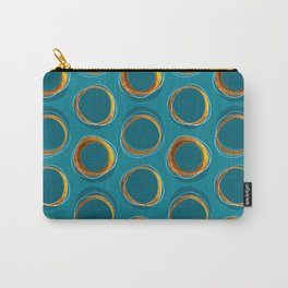 Solar Eclipse MCM Gold-Blue Carry-All Pouch