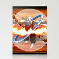 aang Stationery Cards featuring Avatar Aang by Waffle Guru