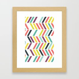 Rainbow ziggy Framed Art Print