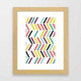 Rainbow ziggy Framed Art Print
