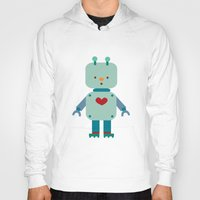 robot Hoodies featuring Robot by Milanesa