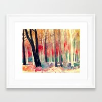 woods Framed Art Prints featuring Woods by takmaj