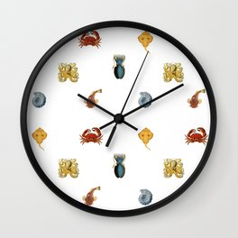 Fish Collage Wall Clock