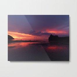 Fire velvet sky Metal Print
