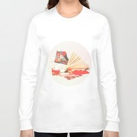 marie antoinette Long Sleeve T-shirts featuring Marie Antoinette II by Delphine Comte