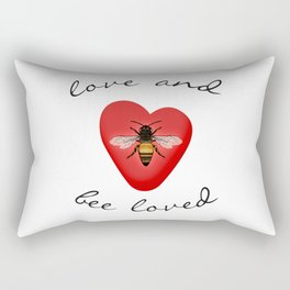 Love and Bee Loved Rectangular Pillow