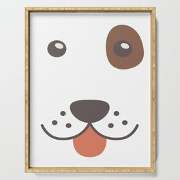 Dog Emoji Funny Bloodhound Serving Tray