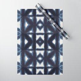 Blue Pima Shibori Wrapping Paper