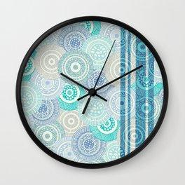 Circles / Stripes Wall Clock