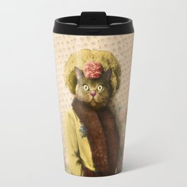 Lady Vanderkat with Roses Travel Mug