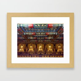 Grand Golden Hall Framed Art Print